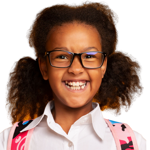 Excited African American Schoolgirl at a Preschool & Daycare Serving Toledo, OH
